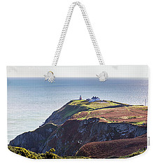 Weekender Tote Bag featuring the photograph View Of The Trails On Howth Cliffs And Howth Head In Ireland by Semmick Photo