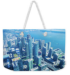 View Of Toronto Waterfront From Cn Tower Weekender Tote Bag