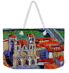 View Over Cathedral Saint Jean Lyon Weekender Tote Bag