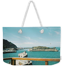 View Over The Ocean Port Weekender Tote Bag
