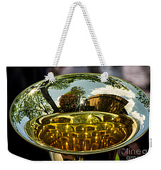 View Through A Sousaphone Weekender Tote Bag by Kevin Fortier