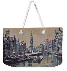 View To The Mint Tower Amsterdam Weekender Tote Bag by Nop Briex