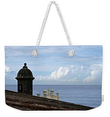 View To The Sea From El Morro Weekender Tote Bag by Lois Lepisto