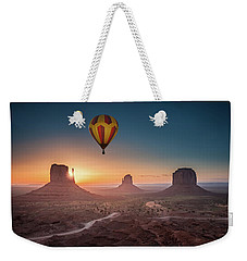 Viewing Sunrise At Monument Valley Weekender Tote Bag