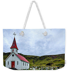 Vik Church And Cemetery - Iceland Weekender Tote Bag