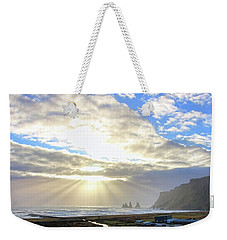 Vik Iceland Sunrays 7028 Crop Weekender Tote Bag