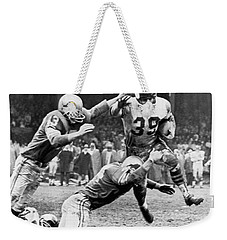 Viking Mcelhanny Gets Tackled Weekender Tote Bag