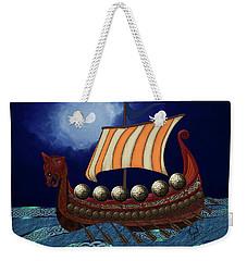 Viking Ship Weekender Tote Bag