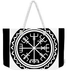 Weekender Tote Bag featuring the digital art Viking Vegvisir Compass by Vagabond Folk Art - Virginia Vivier