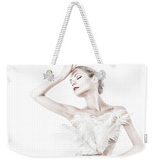 Viktory In White - Feathered Weekender Tote Bag