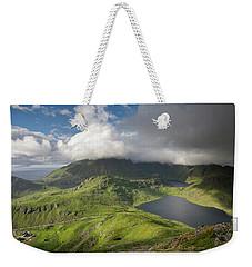 Vikvatnet And Morkdalsvatnet From Holandsmelen Weekender Tote Bag