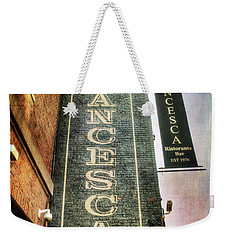 Weekender Tote Bag featuring the photograph Villa Francesca - Boston North End by Joann Vitali