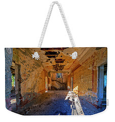 Weekender Tote Bag featuring the photograph Villa Giallo Atmosfera Artistica Con Selfie - Artistic Atmosphere With Selfie by Enrico Pelos