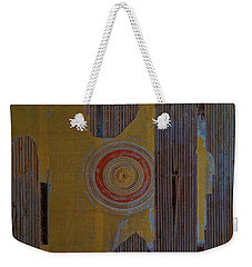 Weekender Tote Bag featuring the photograph Villa Giallo Atmosfera Grafica I - Graphic Atmosphere I by Enrico Pelos