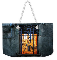 Weekender Tote Bag featuring the photograph Villa Giallo Atmosfera Grafica II - Graphic Atmosphere II by Enrico Pelos