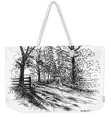 Villa Road At Sunset Weekender Tote Bag