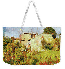 Villa With Roses Weekender Tote Bag by Dragica Micki Fortuna
