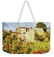 Villa With Roses Weekender Tote Bag