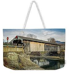 Village Bridge Weekender Tote Bag