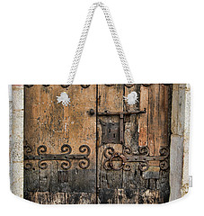 Village Chateau French Old Ancient Door Color  Weekender Tote Bag