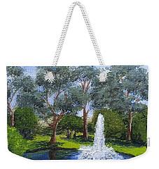 Village Fountain Weekender Tote Bag