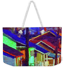 Village Houses Weekender Tote Bag by Richard Farrington