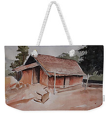 Village Hut Weekender Tote Bag