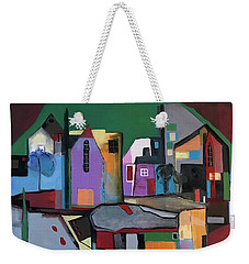Village Near The City Weekender Tote Bag