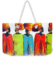 Village Talk Weekender Tote Bag