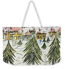 Village Winter Wonderland Weekender Tote Bag