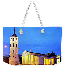 Weekender Tote Bag featuring the photograph Vilnius Cathedral by Fabrizio Troiani