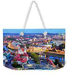 Weekender Tote Bag featuring the photograph Vilnius by Fabrizio Troiani