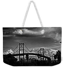 Weekender Tote Bag featuring the photograph Vincent Thomas Bridge by Joseph Hollingsworth