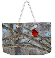 Weekender Tote Bag featuring the mixed media Vincent by Trish Tritz