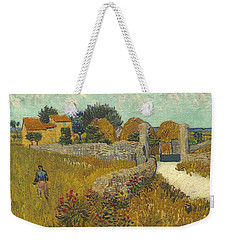 Weekender Tote Bag featuring the painting Vincent Van Gogh, Farmhouse In Provence by Artistic Panda