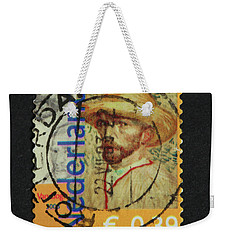 Vincent Van Gogh On A Postage Stamp Weekender Tote Bag by Patricia Hofmeester