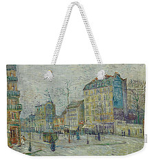 Weekender Tote Bag featuring the painting Vincent Van Gogh  The Boulevard De Clichy, Paris by Artistic Panda