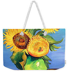 Vincent's Sunflowers Weekender Tote Bag