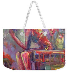 Vine Wine Weekender Tote Bag by Gail Butters Cohen