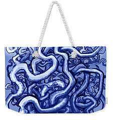Vines Of Blue Weekender Tote Bag by Kevin Middleton