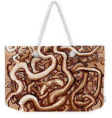 Vines Of Brown Weekender Tote Bag by Kevin Middleton