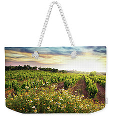 Vineyard Weekender Tote Bag by Carlos Caetano