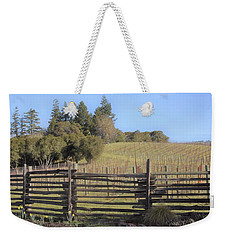 Vineyard In The Spring Weekender Tote Bag