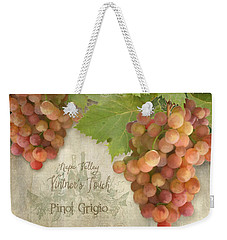 Vineyard - Napa Valley Vintner's Touch Pinot Grigio Grapes  Weekender Tote Bag