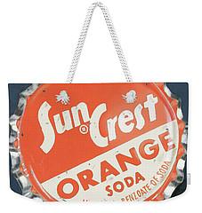 Vintag Bottle Cap, Sun Crest Weekender Tote Bag