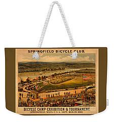 Vintage 1883 Springfield Bicycle Club Poster Weekender Tote Bag by John Stephens