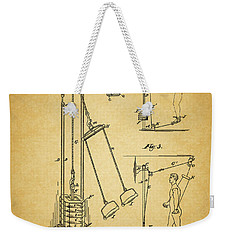 Vintage 1885 Exercising Device Patent Weekender Tote Bag by Dan Sproul