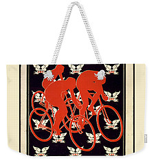 Weekender Tote Bag featuring the photograph Vintage 1895 Springfield Bicycle Club Poster by John Stephens