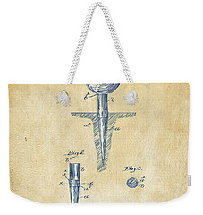 Vintage 1899 Golf Tee Patent Artwork Weekender Tote Bag