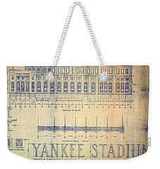 Vintage 1920s Art Deco Yankee Stadium Blueprint Weekender Tote Bag